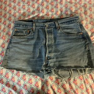 Vintage Levi Button Front Cutt off shorts